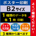【B2サイズ】フォト光沢&半光沢&マット合成紙 1枚