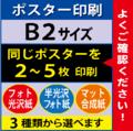 【B2サイズ】フォト光沢&半光沢&マット合成紙 2~5枚