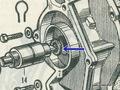 honda S用ウォーターポンプ オイルシール(C)