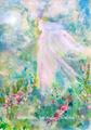 No.58 水彩画ポストカード 丘の上の女神