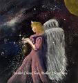 No.61 パステルアート 宇宙の女神