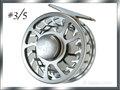 【イオ】 フライリール #3/5 アルミ シルバー&グリーン !