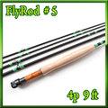 フライロッド #5 Fly Rod スペアティップ付 ブラック 9ft 4ピース