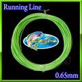 【イオ】 フライ用 ランニングライン 0.65mm フローティング 片側ループ付き Lime green