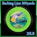 フライ用 バッキングライン 少し長めの 300yard Green 緑色 20lbs