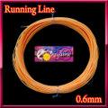 【イオ】フライ用 ランニングライン 0.6mm 両端ループ付き フローティング Orange シューティングライン