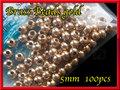 ブラス ビーズ Gold 100個セット Brass Beads 5mm
