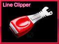 ラインクリッパー ラインカッター ニードル フックシャープナー付 シルバー&レッド Lサイズ