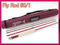 フライロッド #0/1 レッド 赤色 Fly Rod 6.1ft コンパクトロッド
