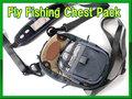 フライフィッシング用 チェストパック 小物入れ 小型ナイロン製 バッグ