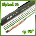 フライロッド #5 Fly Rod ロッドケース付 綺麗なグリーン9ft