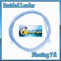 ブレイデッドリーダー 7ft フローティング Braided Leader 20LB Light blue