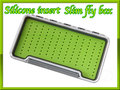 FLY BOX フライケース 透明 シリコンフォーム 薄型 Green