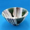 織部糸巻茶碗