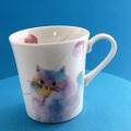 モコ猫マグ ブルー
