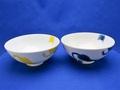 波佐見焼 カッツェ 3.8飯碗 (青)&(黄)