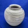 信楽焼 6.5号チタン丸花瓶