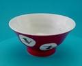 白椿 飯碗(赤)蔵珍窯