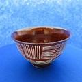 波佐見焼 ファブリック 3.8飯碗(茶)