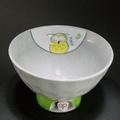 有田焼 高台茶碗 手描き(ふくろう) 國右ェ門窯