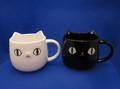 猫3兄弟顔マグカップ SHIRO & KURO