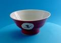 蔵珍窯 赤絵椿 碗 美濃焼