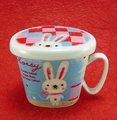 Shinzi Katoh ファシル フタ付マグカップ フラッフ(ウサギ)