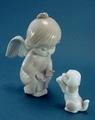 ポーセリン人形 エンジェルと仔犬