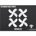 TBS MICRO RACE PROPS (WHITE) (1MM HUB)