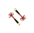 AOMWAY 5.8G Circular Polarized Antenna Pair - Short Edition, RP-SMA, plug, Red
