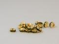 6×3 平型ロンデル(ゴールド) オリーブ