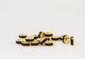 6×3 平型ロンデル(ゴールド) アメシスト