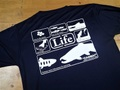 """ドライシルキーTシャツ """"LifeB"""" ネイビー"""