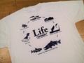 """ドライシルキーTシャツ """"LifeA"""" ホワイト"""