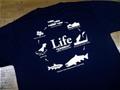 """ドライシルキーTシャツ """"LifeA"""" ネイビー"""