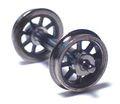 日光モデル・Φ10.5スポーク車輪ナット止めプレーン軸・16番