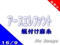 麻糸アースエレファント16/9(蝋付け)-生・黒-