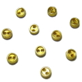 メッキボタン【2つ穴】3ミリ(ゴールド)