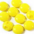 マーブルボタン【平丸】8ミリ(黄色)