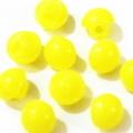 マーブルボタン・半丸6ミリ(黄色)