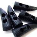 ダッフルボタン【つの】5ヶセット(黒)