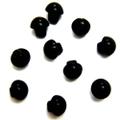目玉ボタン【足付き】4ミリ(黒)