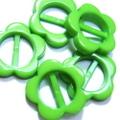 プラバックル【フラワー】5ヶセット(黄緑)