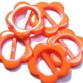 プラバックル【フラワー】5ヶセット(オレンジ)