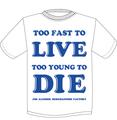 【予約商品】JAMF  TOO FAST TO LIVE TOO YOUNG TO DIE T-Shits NAVYロゴ