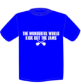TWFW KICK OUT JAMS Tシャツ BLUE