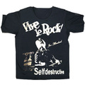 JAMF 10th anniv. JOE ALCOHOL VIVE LE ROCK T-Shirts シルバーラメ