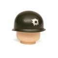 弾痕跡付M1ヘルメット