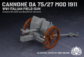 Cannone da 75/27 Mod 1911 - 第一次世界大戦 イタリア軍野砲
