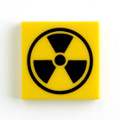 タイル:放射線注意